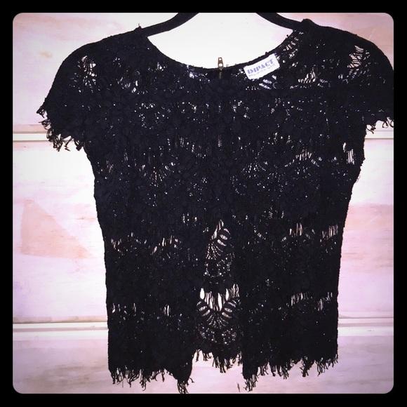 37d03afd0827 Tops | Cute Black Lace Shirt | Poshmark